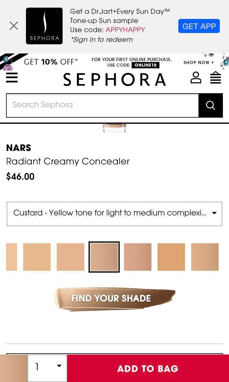 Nars Radiant Creamy Concealer Custard Health Beauty Makeup On Carousell