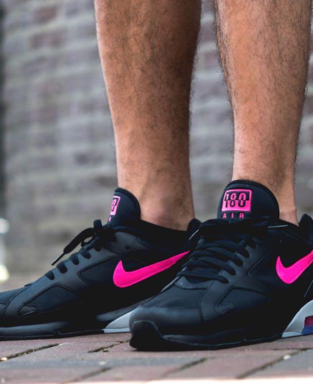 1cb20aa1 Nike AirMax 180 black pink blast MEN, Men's Fashion, Footwear ...