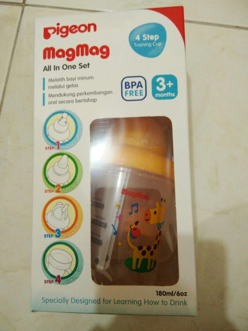 Pigeon Mag All In One Set Bayi Anak Perawatan Makanan Magmag Training Cup Photo