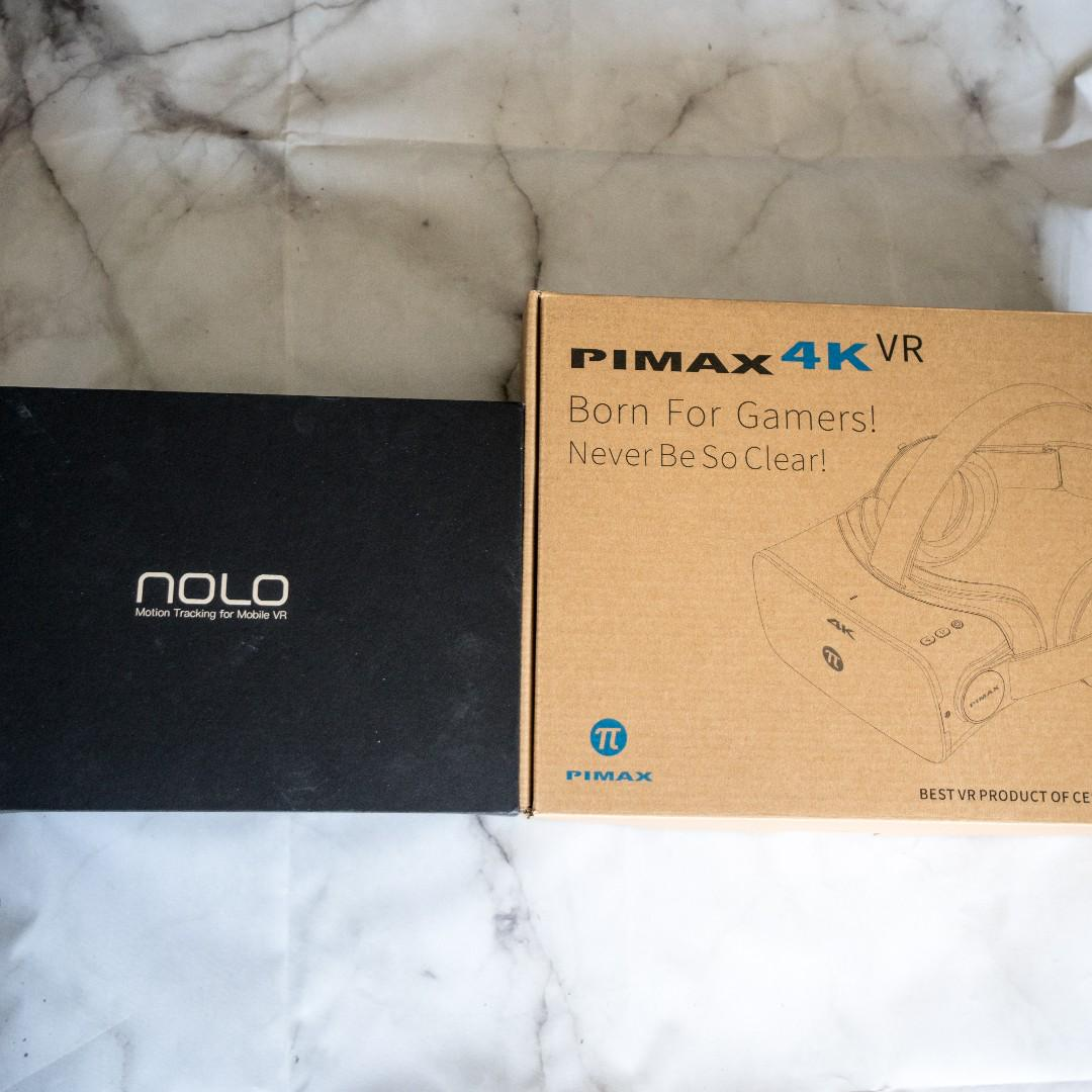 Pimax 4K VR headset + Nolo VR controllers, Video Gaming