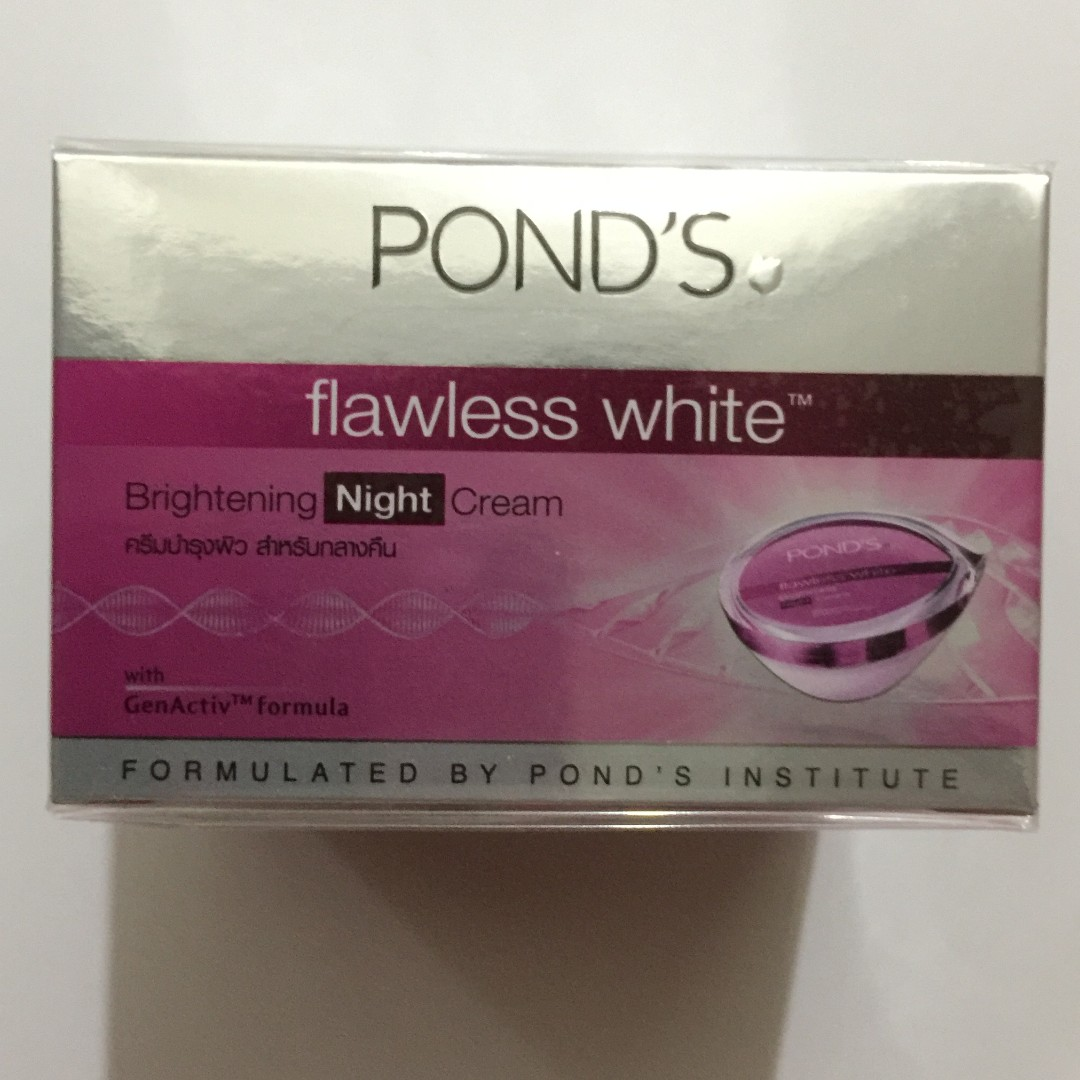 Ponds Flawless White Brightening Night Cream 50g Health Beauty Package Face Skin Care On Carousell