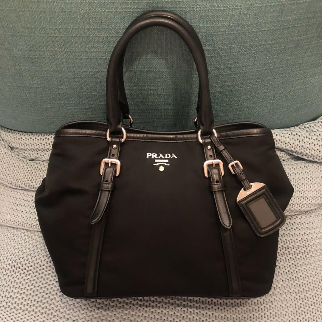 28162b7709b7 Prada Tessuto Soft Calf Shopping Bag, Women's Fashion, Bags & Wallets,  Handbags on Carousell