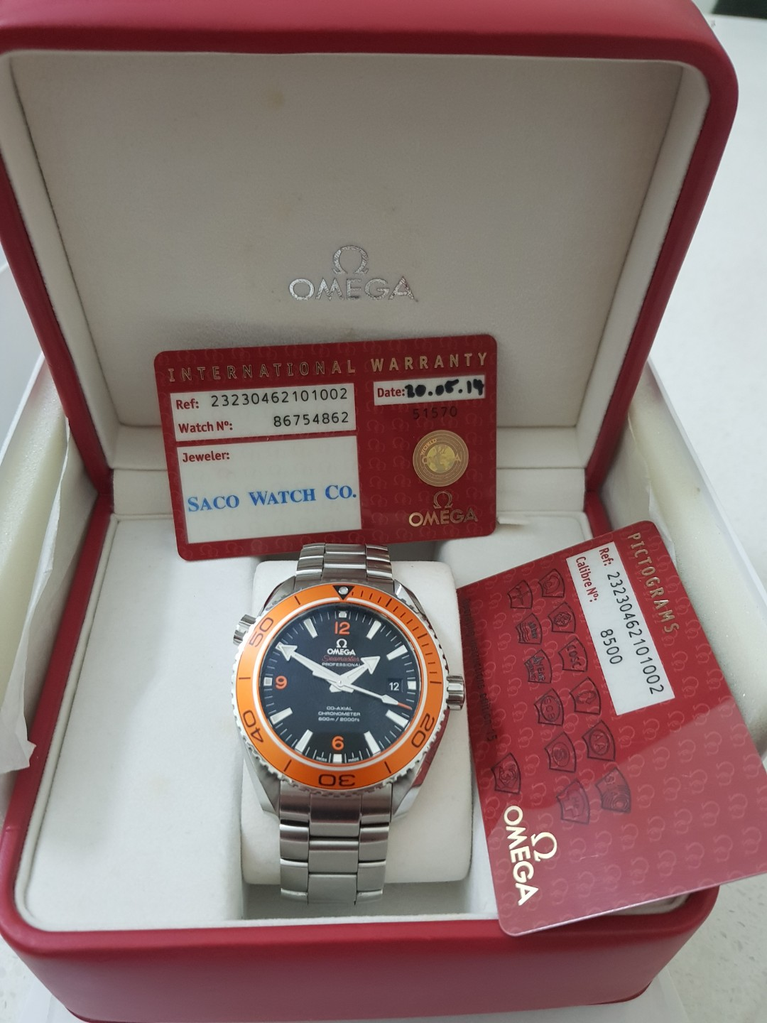 Pre Owned Omega Sea Master Planet Ocean 45 5mm Luxury
