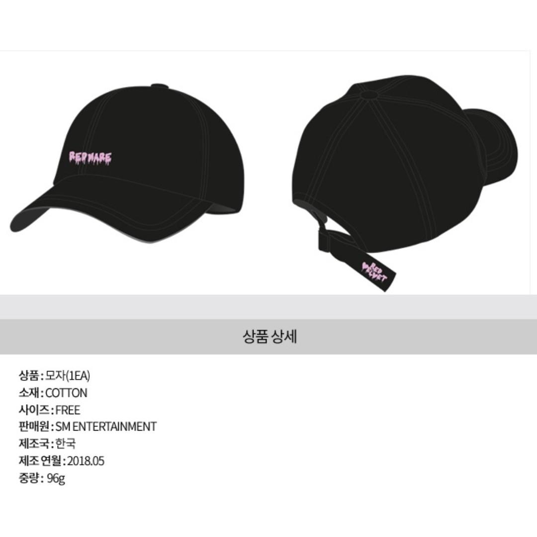 3c32d3a2db2 Preorder Red Velvet 2nd Concert  Redmare  Official Goods Ball Cap ...