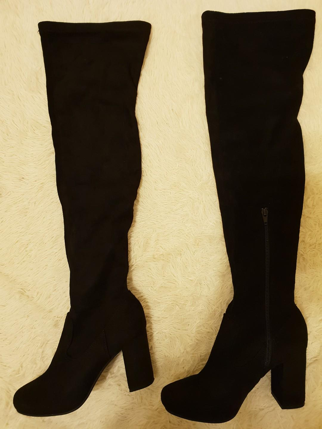 River Island Thigh High Over the Knee Boots - size 6.5/37