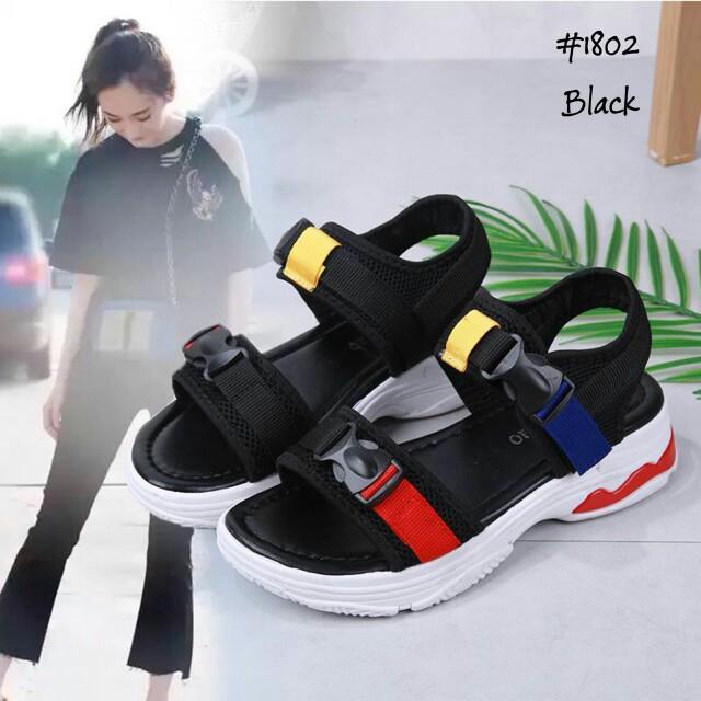 [SANDALS GUNUNG 1802] Sandal Fashion Wanita Impor Murah