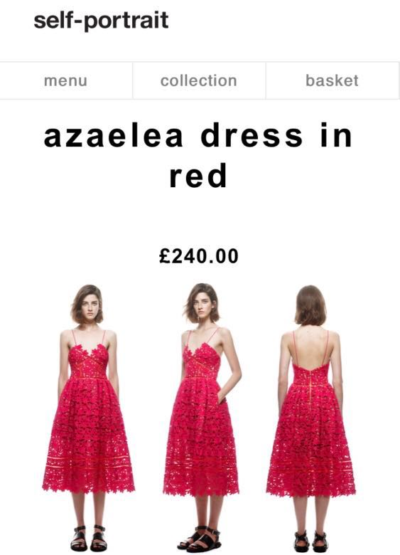 a551785760e6 Self-Portrait Azaelea dress in red, Women's Fashion, Clothes, Dresses &  Skirts on Carousell