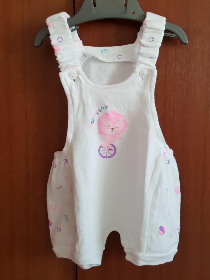 Set baju bayi perempuan 0-3 bulan - overall bayi - jumper bayi