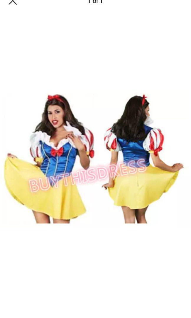 Snow White Women Adult Party Dress  Costume AU 8