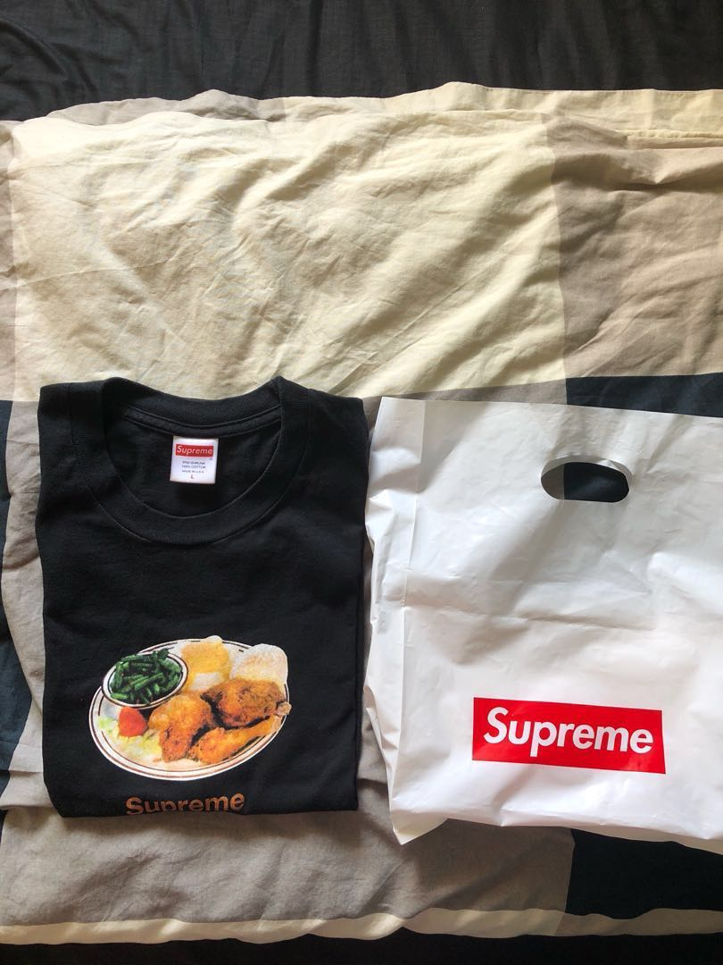 7881215e2be1 Supreme Chicken Dinner tee, Men's Fashion, Clothes, Tops on Carousell