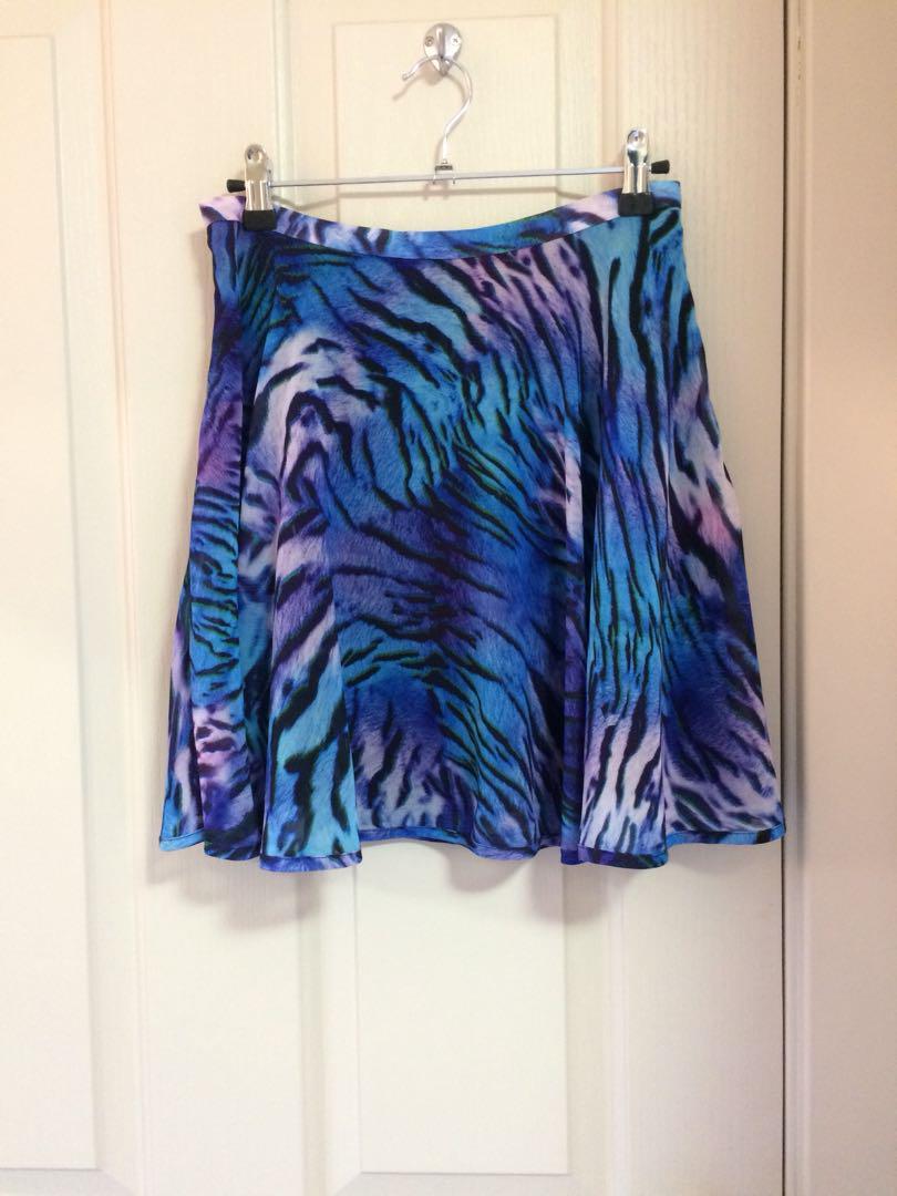 Blue Tiger Print Skirt🐯💙