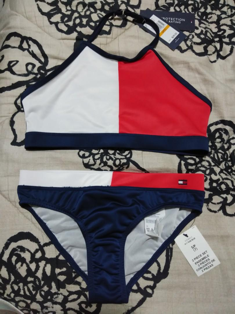 fb8610d4988 Tommy Hilfiger Big Girls Two-Piece Swimsuit on Carousell