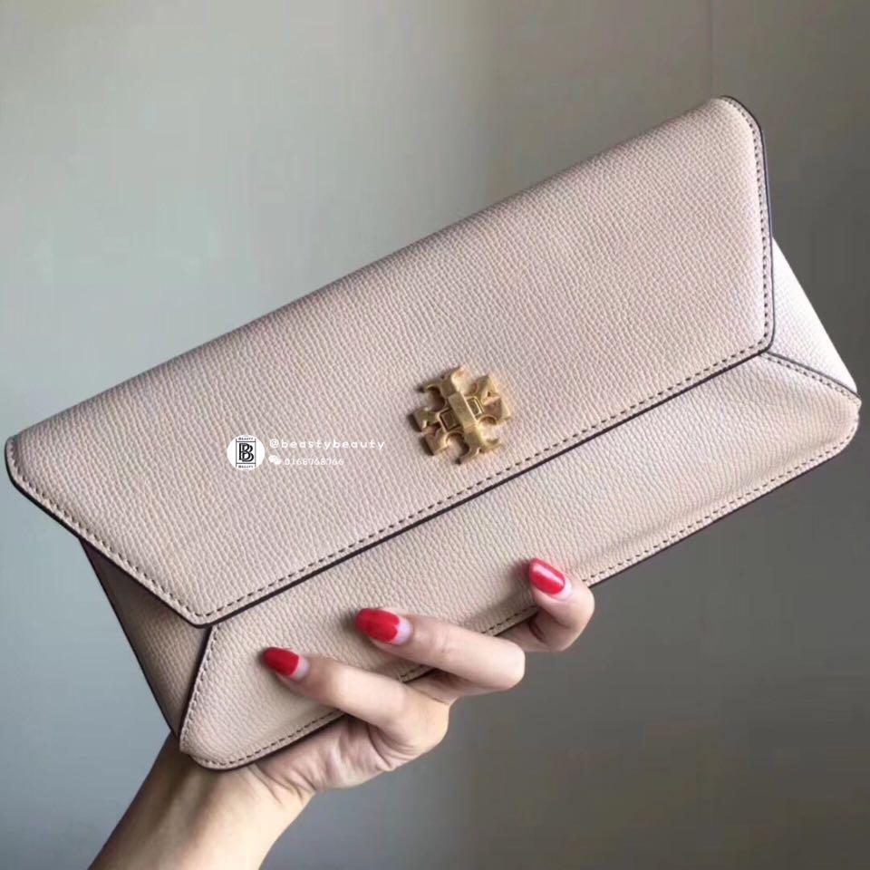 9618080c62c Tory Burch Kira Envelope Clutch - pink beige
