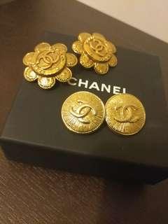 Chanel 耳夾耳環