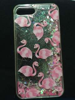 Flamingo Glittered Case for Iphone 7 Plus