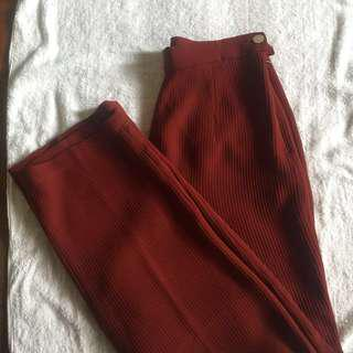 Maroon highwaisted slacks