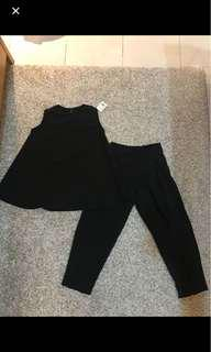 Black set( top+ pant)