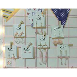 CAF【粉色系列】日系少女 氣質 簡約 個性耳飾 流蘇 長款 甜美耳飾
