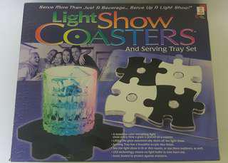 Light Show Coasters and serving tray set