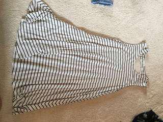 White striped swing dress
