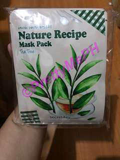 Secret Key Nature Recipe Mask Pack TEA TREE