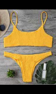 ZAFUL yellow bikini - size M