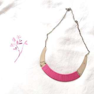 Lovisa Pink Thread And Gold Plate Necklace #LetGo80