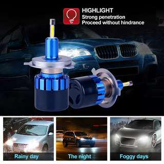 2018 H1 H4 H8 H11 H7 880 9005 9006 Car LED Headlight Bulb 50W 10000LM real Chips Automible Headlamp Front work Light 6500K