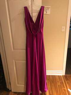 Calvin Klein Evening Gown, Magenta Size 2