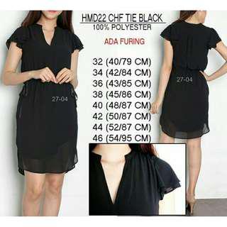 Midi Dress / Import / Black / Ready Stock / New / Size 36, 38 & 40