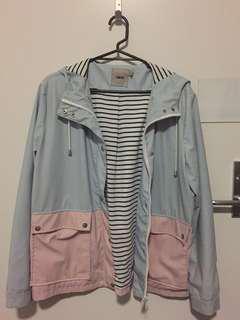 ASOS Pastel Blue and Pink Waterproof-type Jacket