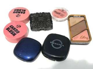Various brands brusher (KIKO, ANNA SUI, W7, ESSENCE & RIMMEL...)