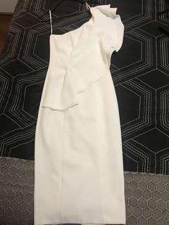 Sheike white formal dress