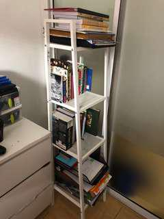 Ikea multilayer shelf/bookshelf LERBERG WHITE