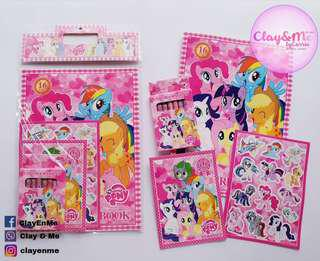My Little Pony Coloring set (Crayons, 2pc Coloring books, sticker)