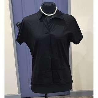 SALE! UNIQLO, Polo Shirt Short Sleeves, Black