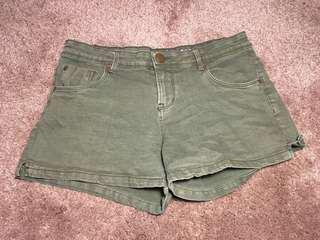 Khaki Green Shorts