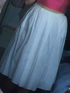 White Cloth Maxi Skirt Formal