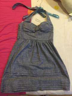B. SMART Halter Denim Dress