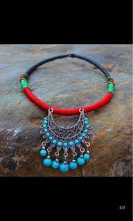 🚚 雲南 民族風 波希米亞 歐美 性感 土耳其藍 鎖骨鏈 美