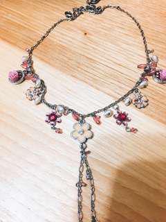 🚚 超推情人節禮物  氣質 歐美 設計感 巴賽隆那 玫瑰 粉 項鍊