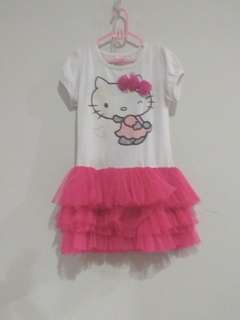 Dress Ballet Hello Kitty Anak