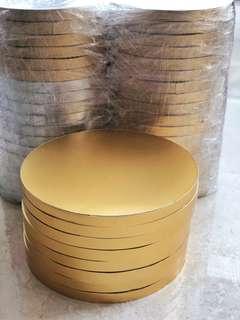 Tatakan kue emas gold cakeboard tebal d 30cm