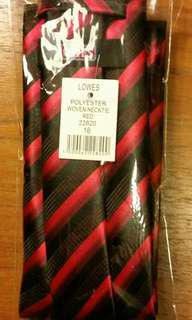 New Red/Black Lowes Business Tie Stain Resistant Size 16 Gr8