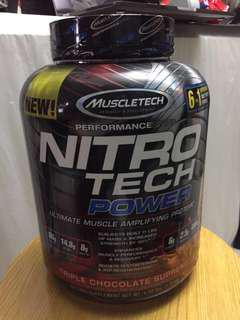 Muscletech 4lbs 6in1 Power Nitro Tech 三重朱古力 Protein