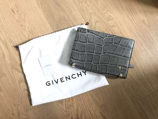 Givenchy HDG croc pattern leather box zip clutch bag 皮手拎袋