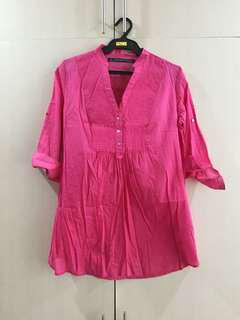 Zara TRF Collection Pink Blouse