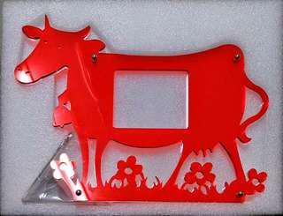 🚚 壓克力…乳牛造型相框架