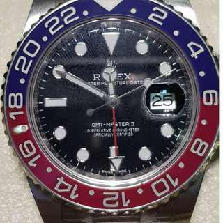 ROLEX GMT MASTER II 116719BLRO WHITE GOLD 2018 BLACK DIAL