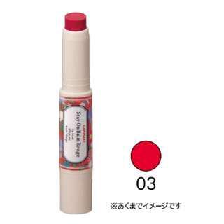 🚚 全新✨CANMAKE 水蠟筆 水潤唇膏 橘紅色03💄